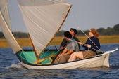Beachcomber-Alpha Dory Sailing — Stock Photo