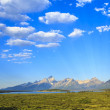Teton Range on Jackson Lake — Stock Photo
