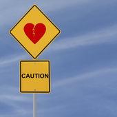 Heartbreak Ahead — Stock Photo