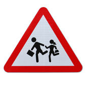 School Children Crossing — Stock Photo