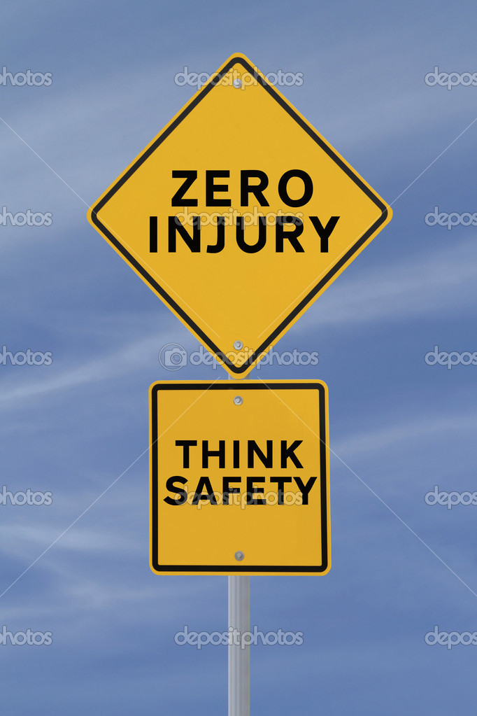 Road sign with a safety reminder against a blue sky background — Stock Photo #11817701