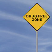 Drug Free Zone — Stock Photo