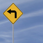 Sharp Turn Ahead — Stock Photo