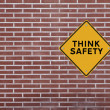 Think Safety! — Stock Photo