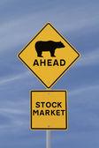 понижательный фондовом рынке — Стоковое фото