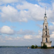 Kalyazin. Bell Tower in the water. — Stock Photo