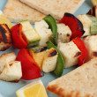 Halloumi Souvlaki - Stock Photo