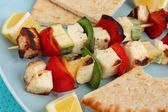 Halloumi Souvlaki — Stock Photo