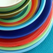Colourful bowls and plates — ストック写真