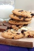 Chocolate Cookies With Milk — Stockfoto