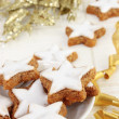 Star-shaped Christmas Cinnamon Cookies - Stock Photo
