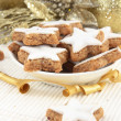 Star-shaped Christmas Cinnamon Cookies — Stock Photo #11960871