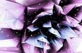 3D abstract violet blossom conceptual background — Stock Photo