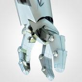 Robotic hand manipulation in future — Stock Photo