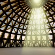 Beam of gods holy light in abstract architectural moder dome — Stock Photo #11945688