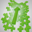 Green graph wall from plus sign with increasingup — Stock Photo #11984512