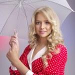 Portrait of beautiful blond woman — Stock Photo