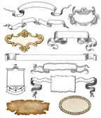 Cartouche set illustration — 图库照片