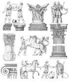 Ilustración conjunto griego antiguo — Foto de Stock