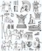 Old greek set illustration — Stock Photo