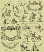 Old knight illustration — Stock Photo