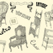Vintage chairs illustration — Stock Photo