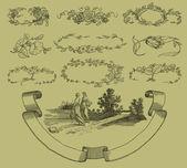 Cartouche conjunto ilustración — Foto de Stock