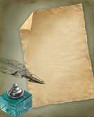 Old paper illustration — Stock Photo