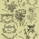Cartouche set illustration — Stock Photo