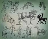 馬セット — ストック写真
