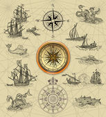 Mapa de pirata — Foto Stock