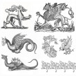 Dragons illustration — Stock Photo #11939796