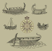 Vintage sailboats — Stock Photo