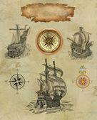 Oude kaart van de piraat — Stockfoto
