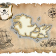 Stock Photo: Old pirate map