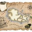 Old pirate map — Stock Photo #11941058