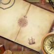 Old pirate map — Stock Photo