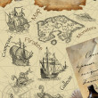 Royalty-Free Stock Photo: Old pirate map