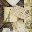 Old postcards set - Foto de Stock