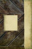деревянный каркас на фоне бумаги — Стоковое фото