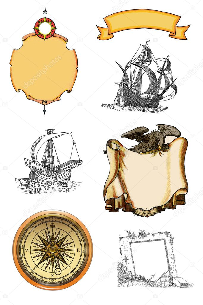 Old pirate map — Stock Photo #11941372