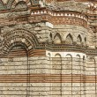 Ancient roman wall architecture - Foto de Stock