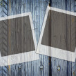 Royalty-Free Stock Photo: Two frames old wood background