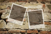 Old wall with frames — Stock Photo