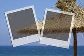 Due fotogrammi con vista mare — Foto Stock