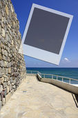 Frame with sea view — Foto de Stock