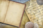 Old book background — Stock Photo