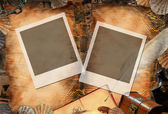 Two frames on retro paper — Stock Photo