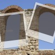 Stock Photo: Two frames on greek architecture