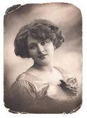 Vintage girl portrait — Stock Photo